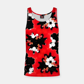 red pink black and white floral spring pattern Tank Top obraz miniatury