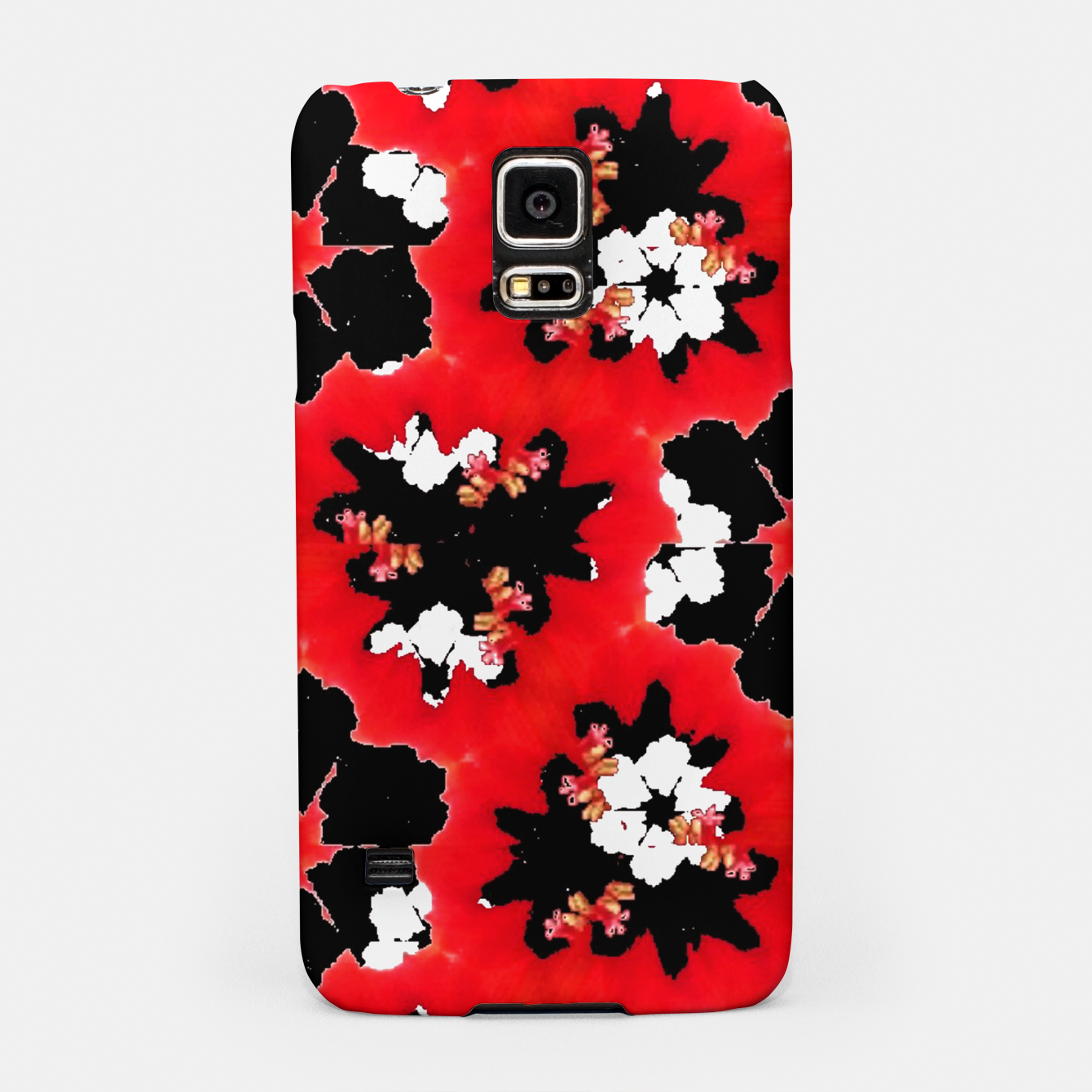 Image de red pink black and white floral spring pattern Samsung Case - Live Heroes