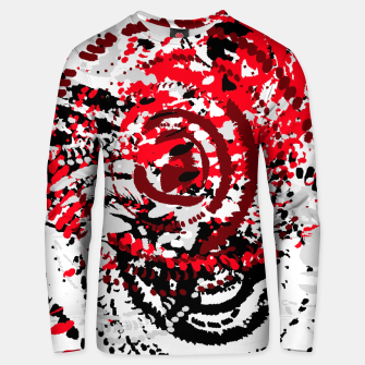 Miniatur red black white silver grey abstract digital art Unisex sweater, Live Heroes