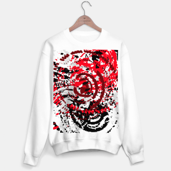 Miniatur red black white silver grey abstract digital art Sweater regular, Live Heroes