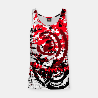 Miniatur red black white silver grey abstract digital art Tank Top, Live Heroes