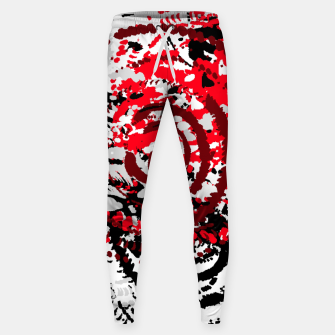 Miniatur red black white silver grey abstract digital art Sweatpants, Live Heroes