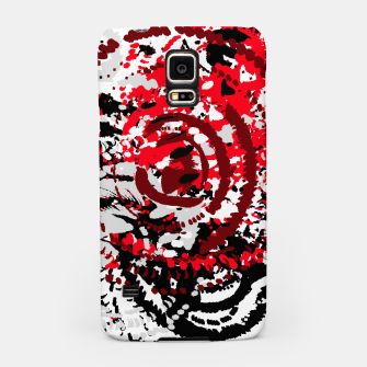 Miniatur red black white silver grey abstract digital art Samsung Case, Live Heroes