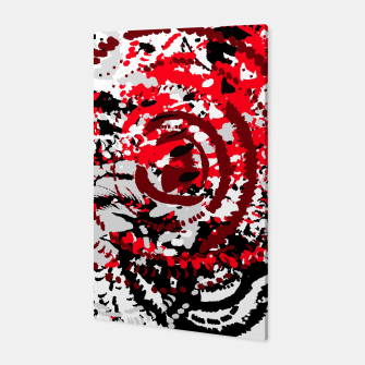 Thumbnail image of red black white silver grey abstract digital art Canvas, Live Heroes