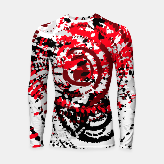 Thumbnail image of red black white silver grey abstract digital art Longsleeve rashguard , Live Heroes