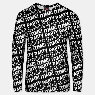 Miniaturka Party Time Concept Typographic Pattern Unisex sweater, Live Heroes