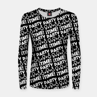 Miniaturka Party Time Concept Typographic Pattern Women sweater, Live Heroes