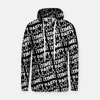 Miniaturka Party Time Concept Typographic Pattern Hoodie, Live Heroes