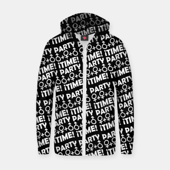 Miniaturka Party Time Concept Typographic Pattern Zip up hoodie, Live Heroes