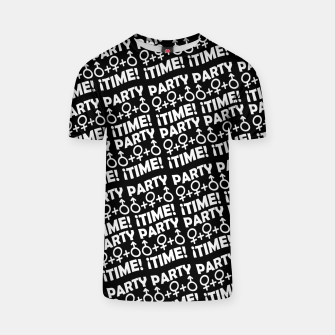Miniaturka Party Time Concept Typographic Pattern T-shirt, Live Heroes