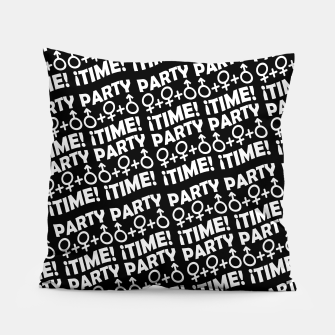 Miniaturka Party Time Concept Typographic Pattern Pillow, Live Heroes