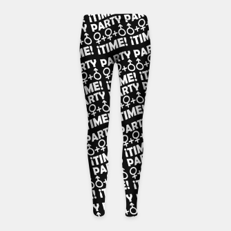 Miniaturka Party Time Concept Typographic Pattern Girl's leggings, Live Heroes