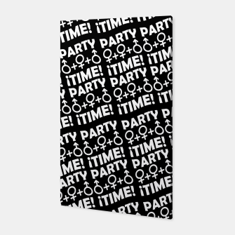 Miniaturka Party Time Concept Typographic Pattern Canvas, Live Heroes