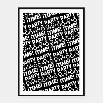 Miniaturka Party Time Concept Typographic Pattern Framed poster, Live Heroes