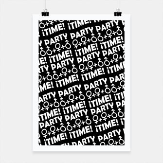 Miniaturka Party Time Concept Typographic Pattern Poster, Live Heroes