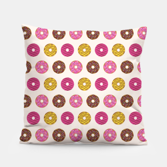 Miniatur Sweet Donuts Pattern Almohada, Live Heroes