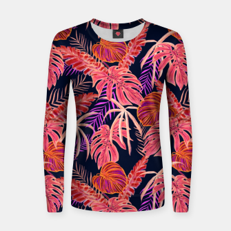 Miniature de image de Dark Tropical Women sweater, Live Heroes