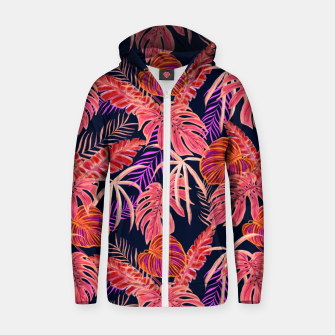 Miniature de image de Dark Tropical Zip up hoodie, Live Heroes
