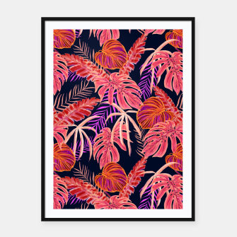 Thumbnail image of Dark Tropical Framed poster, Live Heroes