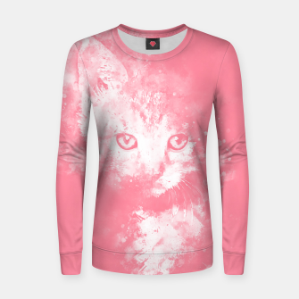 Thumbnail image of abstract young cat wspw Women sweater, Live Heroes