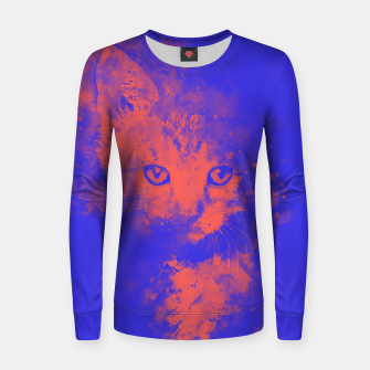 Thumbnail image of abstract young cat wsbr Women sweater, Live Heroes