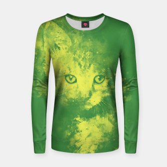 Thumbnail image of abstract young cat wsgy Women sweater, Live Heroes
