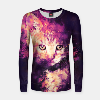 Thumbnail image of abstract young cat wslsh Women sweater, Live Heroes