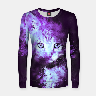 Thumbnail image of abstract young cat wsdp Women sweater, Live Heroes