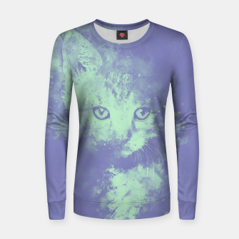 Thumbnail image of abstract young cat wspt Women sweater, Live Heroes