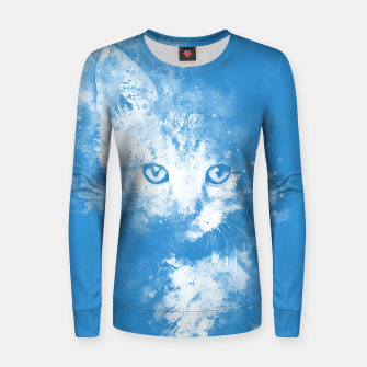 Thumbnail image of abstract young cat wswb Women sweater, Live Heroes