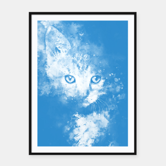 Miniature de image de abstract young cat wswb Framed poster, Live Heroes