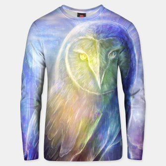 Thumbnail image of Crystalline owl Unisex sweater, Live Heroes
