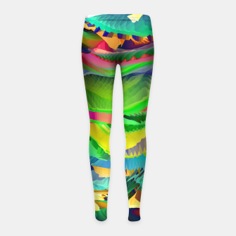 The Landscape of Heaven (LH096) Girl's leggings imagen en miniatura