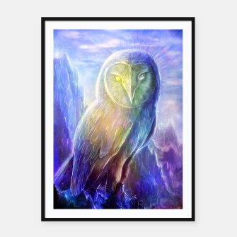 Thumbnail image of Crystalline owl Framed poster, Live Heroes