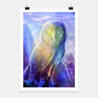 Thumbnail image of Crystalline owl Poster, Live Heroes
