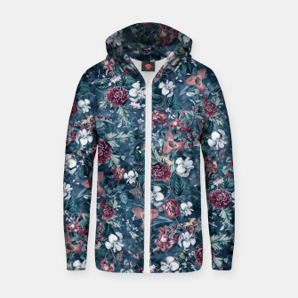 Thumbnail image of Blue Garden Zip up hoodie, Live Heroes