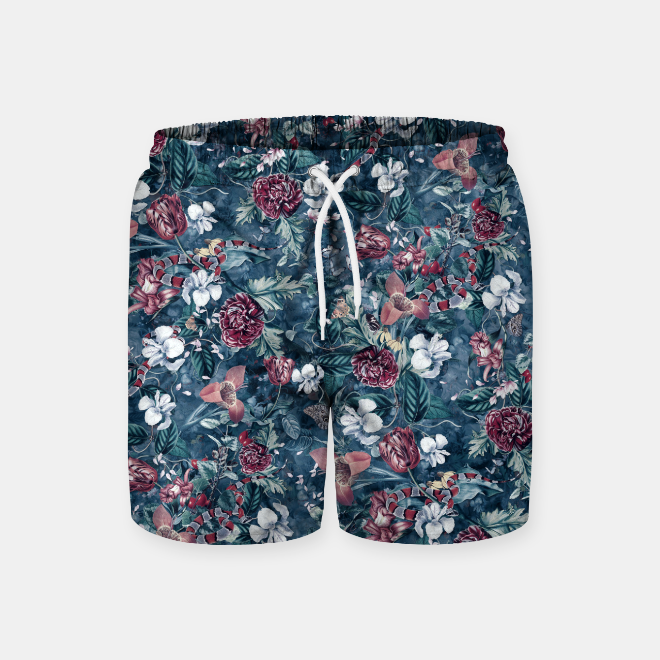 Image of Blue Garden Swim Shorts - Live Heroes