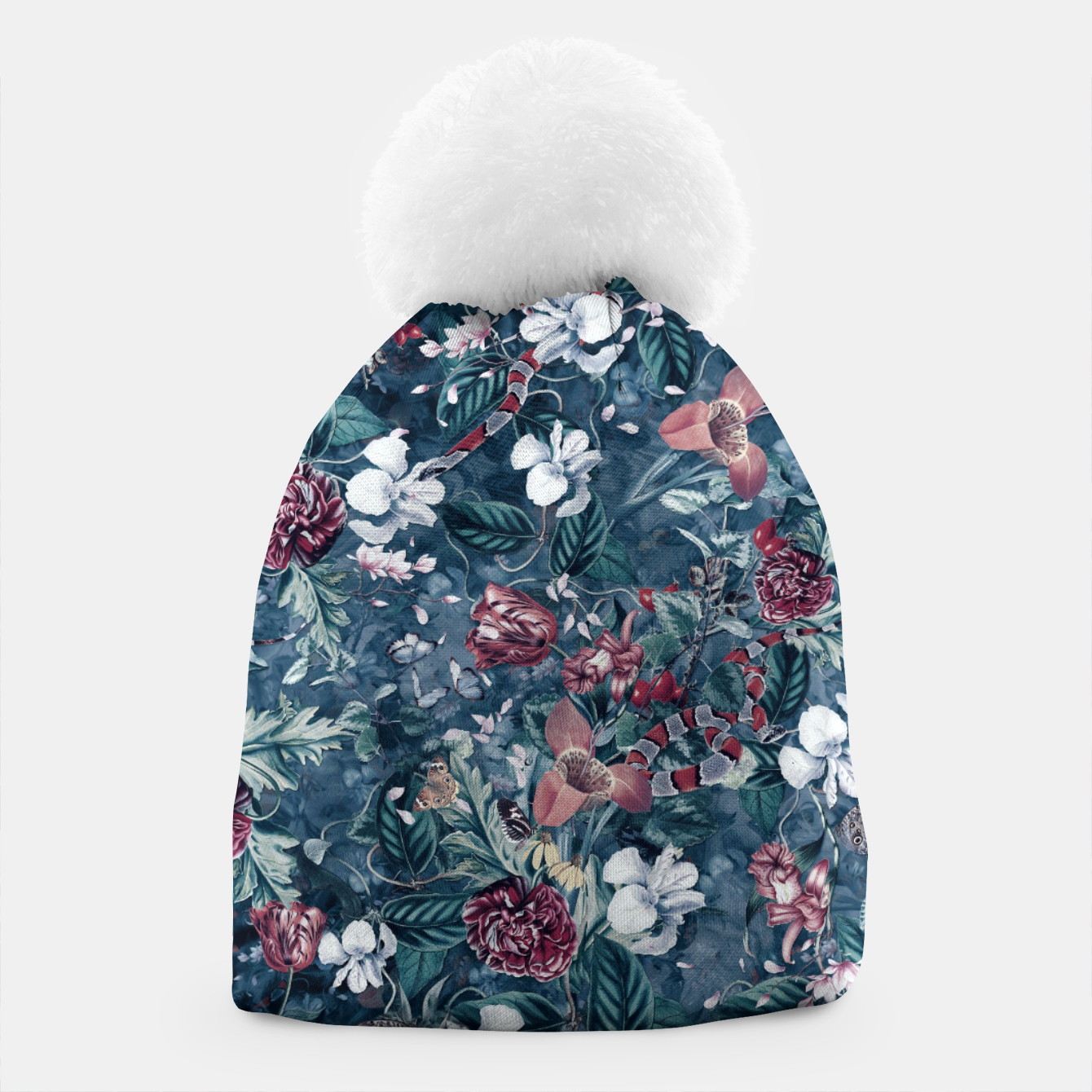 Image of Blue Garden Beanie - Live Heroes