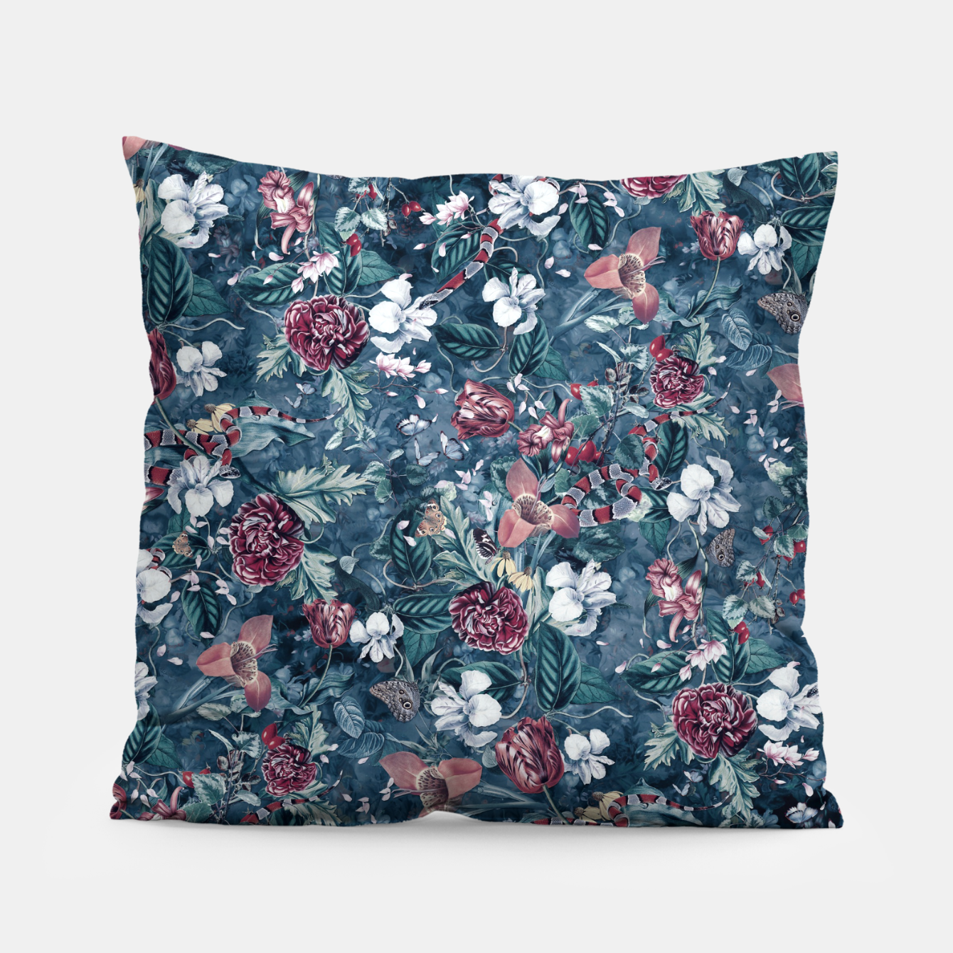 Image of Blue Garden Pillow - Live Heroes