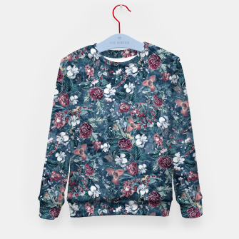 Blue Garden Kid's sweater Bild der Miniatur