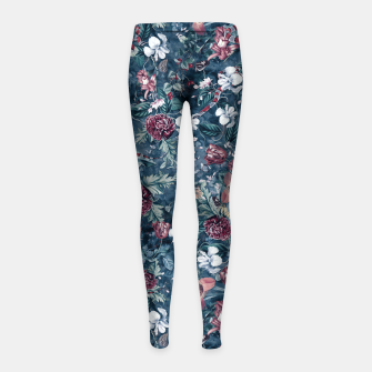 Thumbnail image of Blue Garden Girl's leggings, Live Heroes