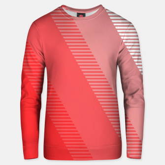 Imagen en miniatura de coral pink mountains abstract minimal geometric art Unisex sweater, Live Heroes