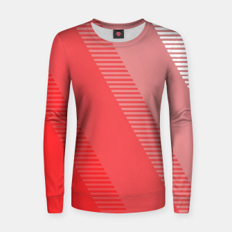 Thumbnail image of coral pink mountains abstract minimal geometric art Women sweater, Live Heroes