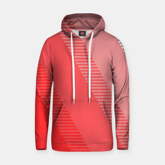 Thumbnail image of coral pink mountains abstract minimal geometric art Hoodie, Live Heroes