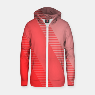 Thumbnail image of coral pink mountains abstract minimal geometric art Zip up hoodie, Live Heroes