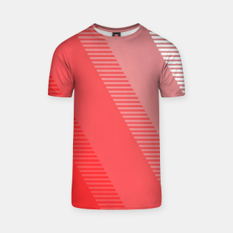 Thumbnail image of coral pink mountains abstract minimal geometric art T-shirt, Live Heroes
