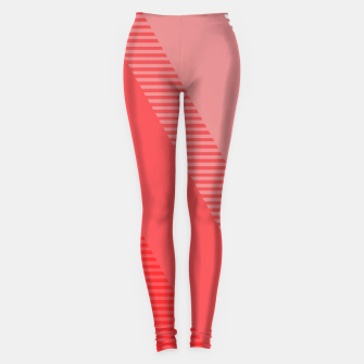 Thumbnail image of coral pink mountains abstract minimal geometric art Leggings, Live Heroes