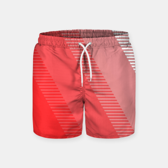 Imagen en miniatura de coral pink mountains abstract minimal geometric art Swim Shorts, Live Heroes