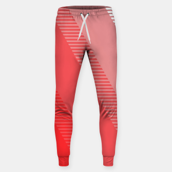 Thumbnail image of coral pink mountains abstract minimal geometric art Sweatpants, Live Heroes
