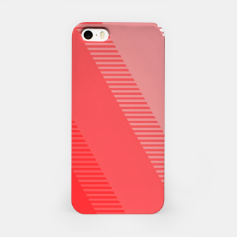 Imagen en miniatura de coral pink mountains abstract minimal geometric art iPhone Case, Live Heroes